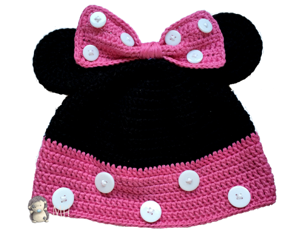 Gorro Minnie Mouse a crochet, ¡patrón gratis! | Minnie mouse, Minnie ...