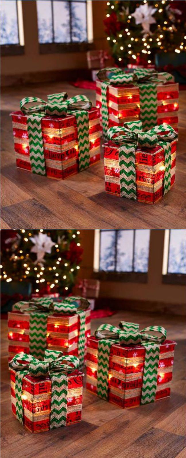 Christmas Gift Box Decorations Christmas Gift Ideas Christmas Gifts Set Of 3 Lighted Gift Box