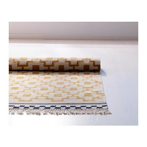 Teppich ikea alvine  ALVINE RUTA Rug, flatwoven, white/yellow handmade white/yellow ...