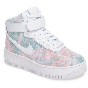 Women s Nike Air Force 1 Upstep Hi Lx Sequined High Top Sneaker ... 8fdbce049