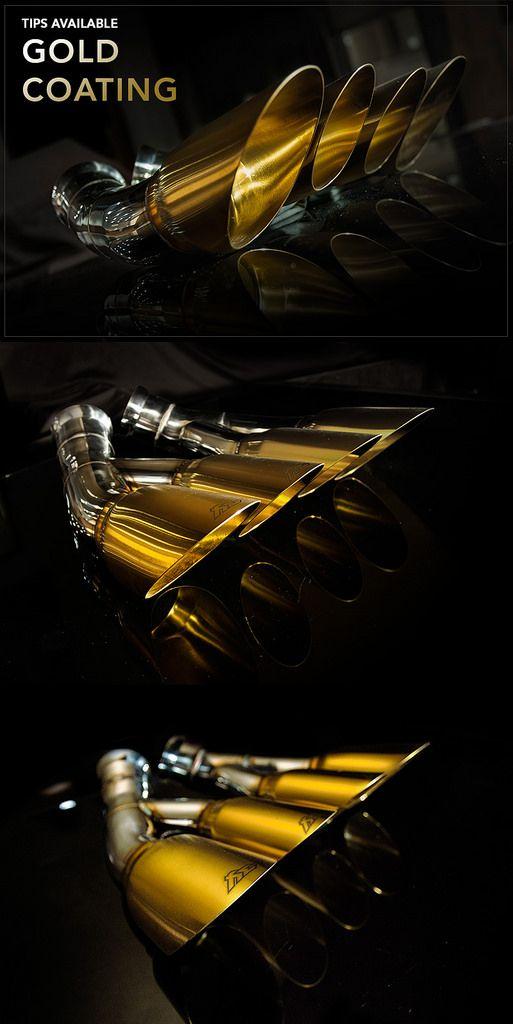 lamborghini gold exhaust tips