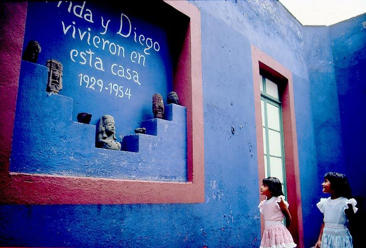 The Blue House: Mirror Of Her Artistic Sign, Full Of Nature, Colours,