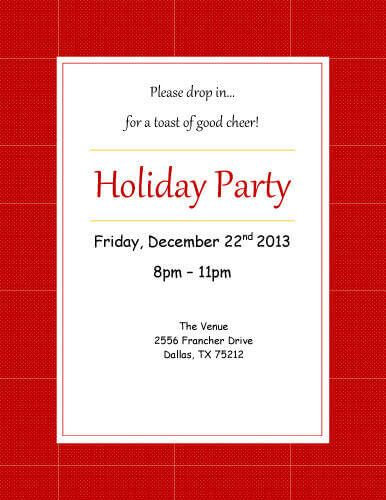 Free Invitation Template by Hloom PARTY IDEAS (CHRISTAMAS
