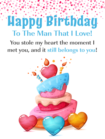 You Stole My Heart Romantic Happy Birthday Card For Him Birthday Greeting Cards By Davia Birthday Cards For Him Birthday Wishes For Boyfriend Birthday Quotes For Girlfriend