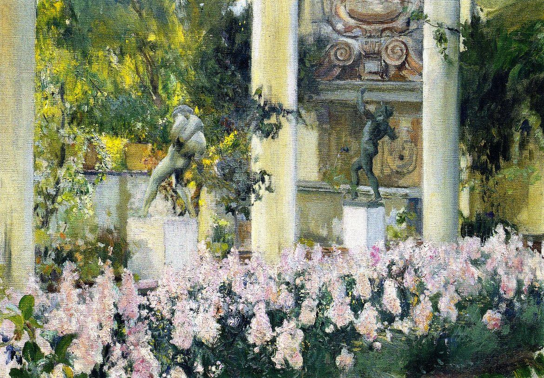 Wallflowers in the Garden of the Sololla House  Joaquin Sorolla y Bastida