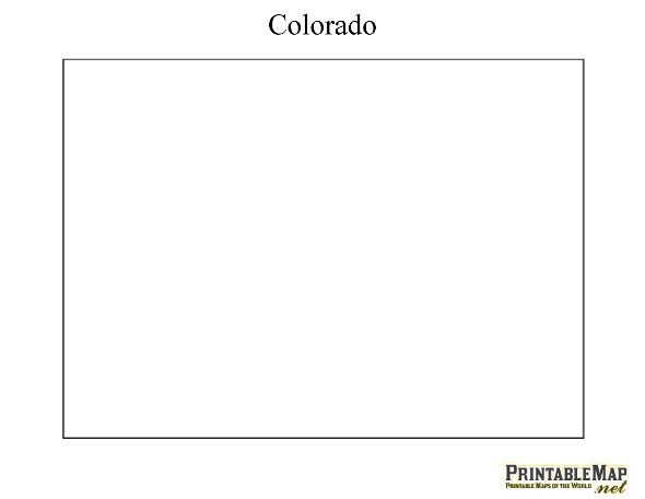 Printable Map of Colorado   Places I\'ve been   Pinterest   Map ...