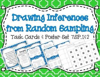 Drawing Inferences for Random Sampling Task Card and Poster Set ~ 7.SP.1 7.SP.2