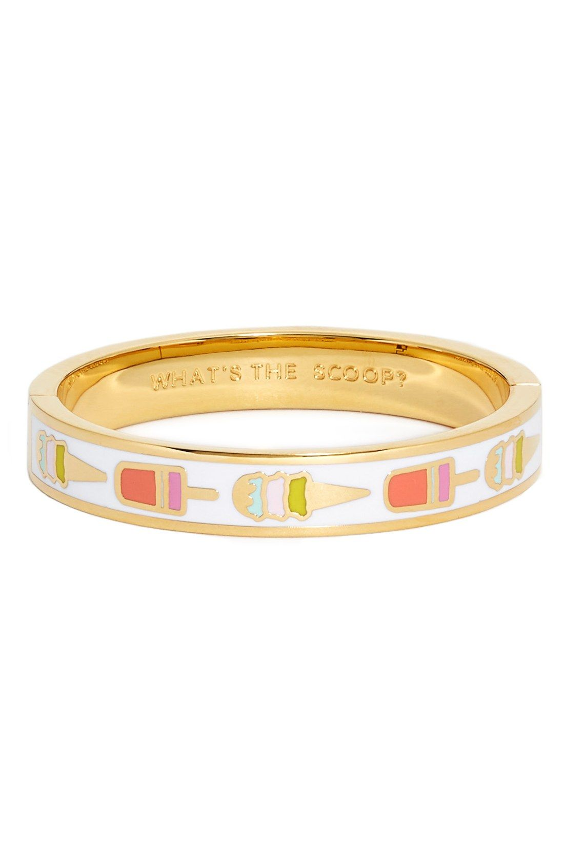 Kate Spade New York Idiom What S The Scoop Bangle Bracelet