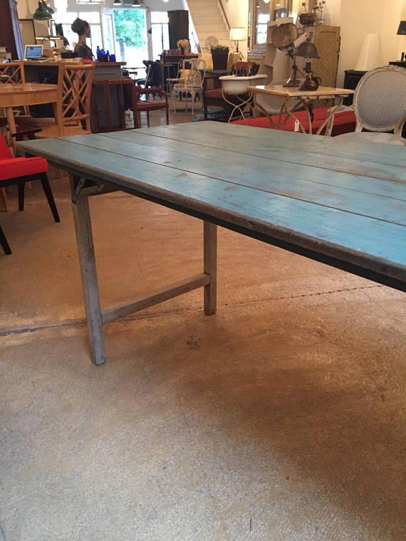 Vintage Farm Table Folding