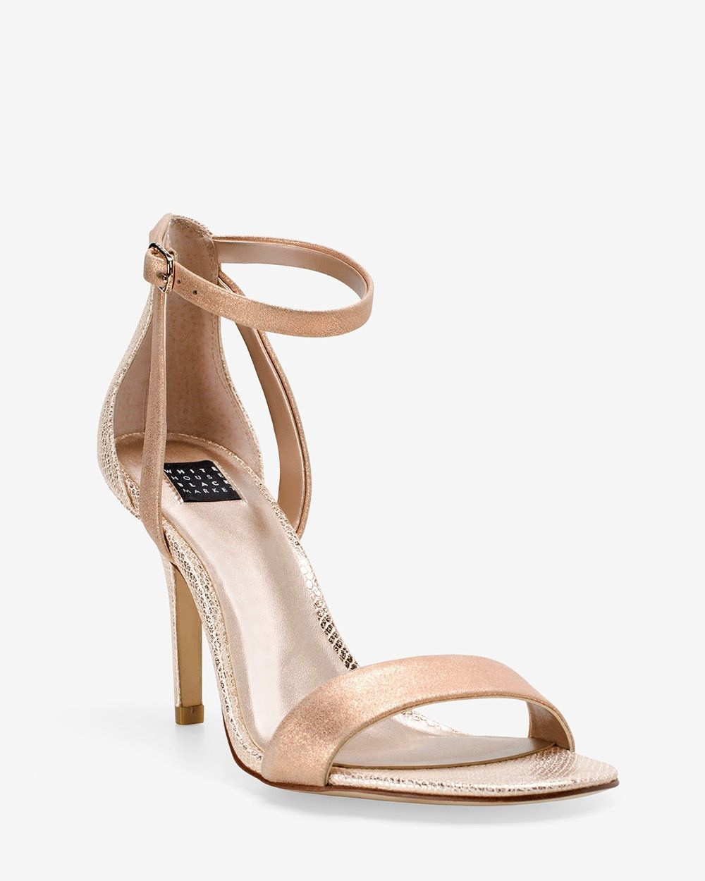 50 Heel Height 3 1 2 Only Size 11 White House Black Market Rose Gold Strappy Mid Heel Sandals Rose Gold Pinterest Sandals Rose And White House Bla