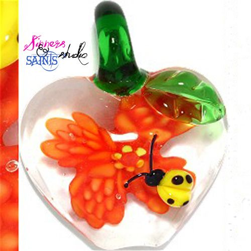Sin City Venetian Glass Cute As A Bug Orange