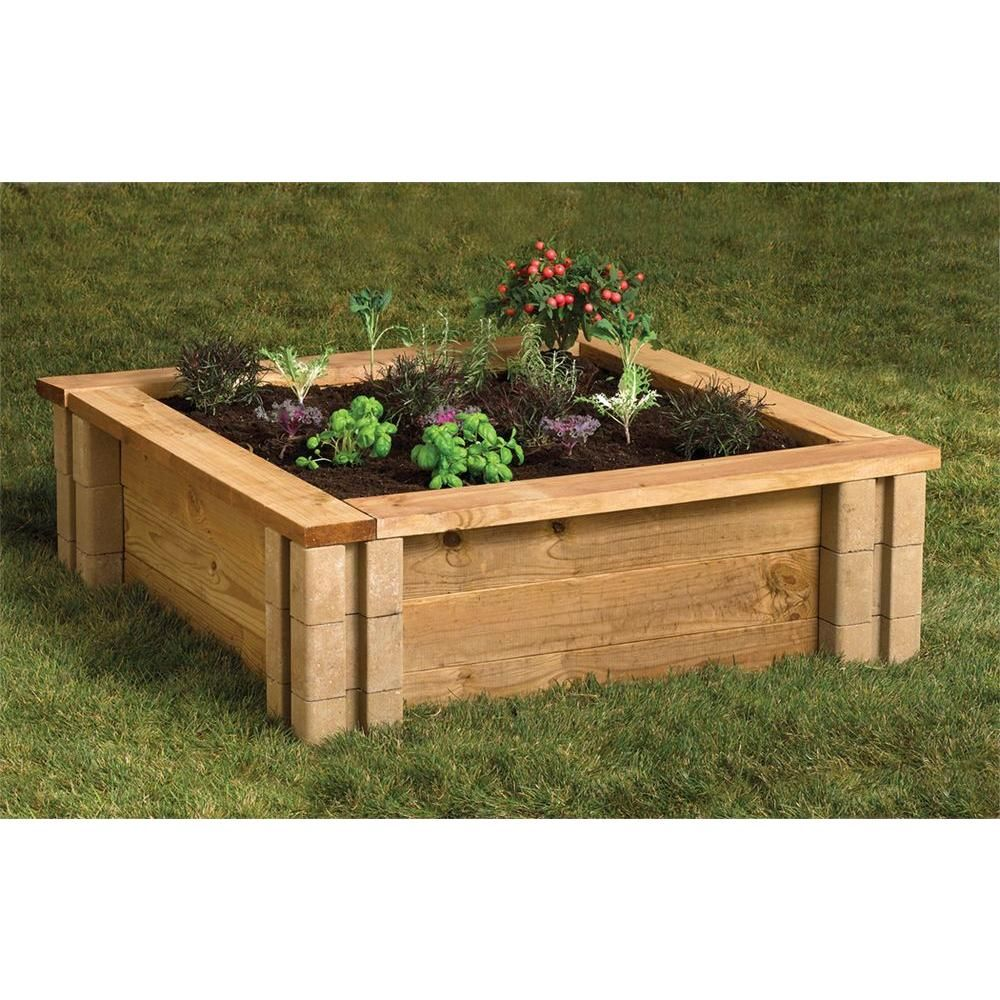 Tan Brown Planter Wall Block Pack of