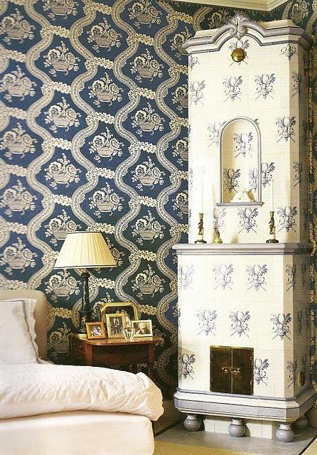 Beautiful European Old World Blue Whites Design Scandinavian Design Swedish Interiors
