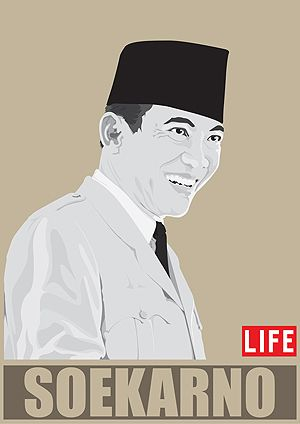 Soekarno in Vector Indonesia 1st President