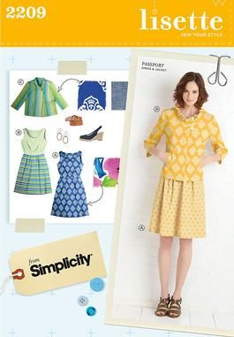 SIMPLICITY PATTERN TRAVELER DRESS MISSES/' or MISS PETITE SZ 6-14 or 14-22 # 2246