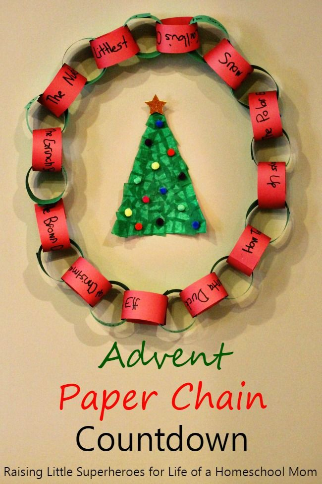 advent paper chain countdown teaching math science freebies 4 mom days till christmas. Black Bedroom Furniture Sets. Home Design Ideas