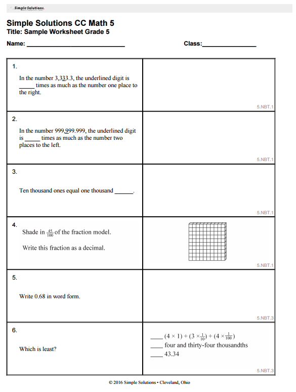 Teachers how use our Simple Solutions books have free access to our ...