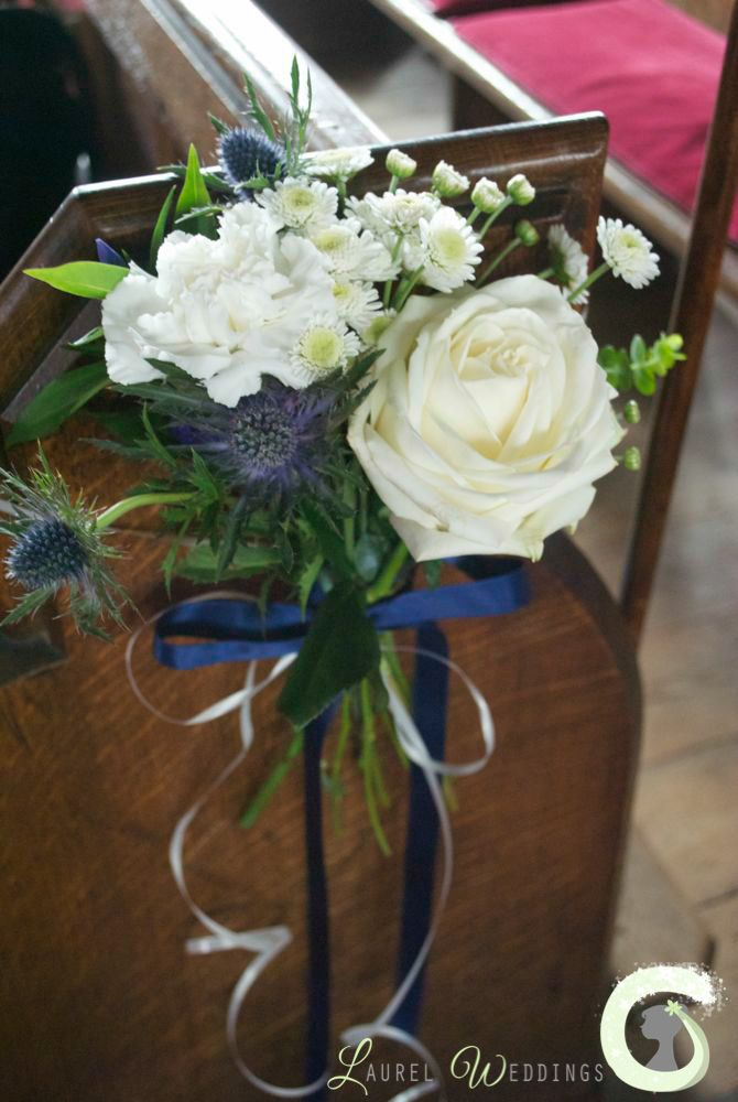 Image Result For White Roses Blue Eryngium And Greenery Church