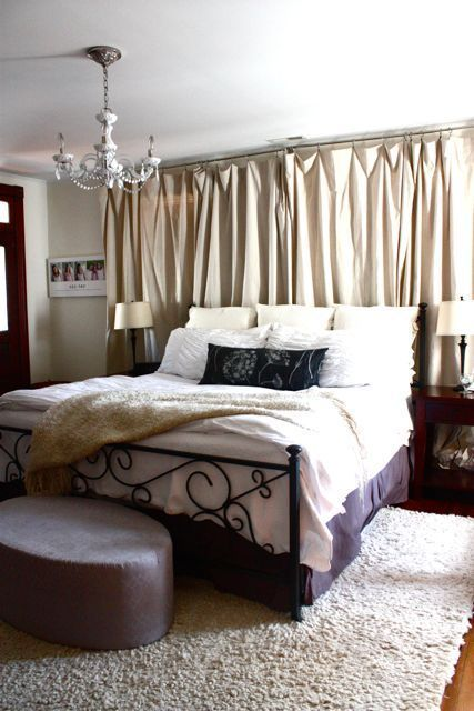 Angelique S Feminine Vintage Harmony House Tour Curtains Behind Bed Curtains Living Room Curtain Over Bed