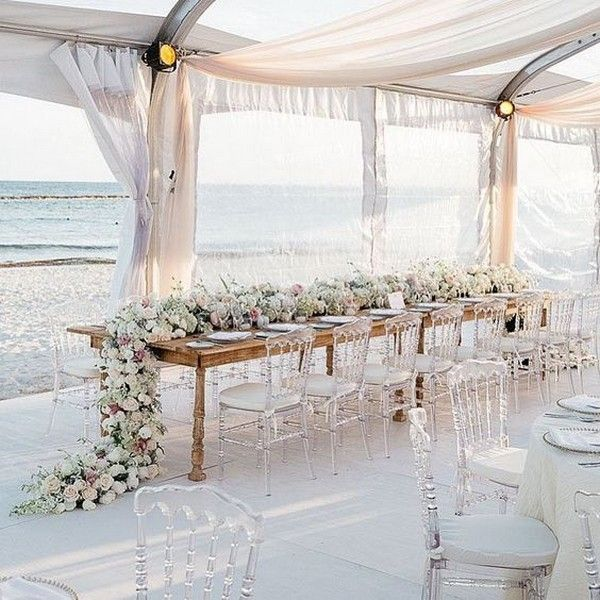 20 Stunning Beach Wedding Reception Ideas for Summer 2019 - Page 2 of 2