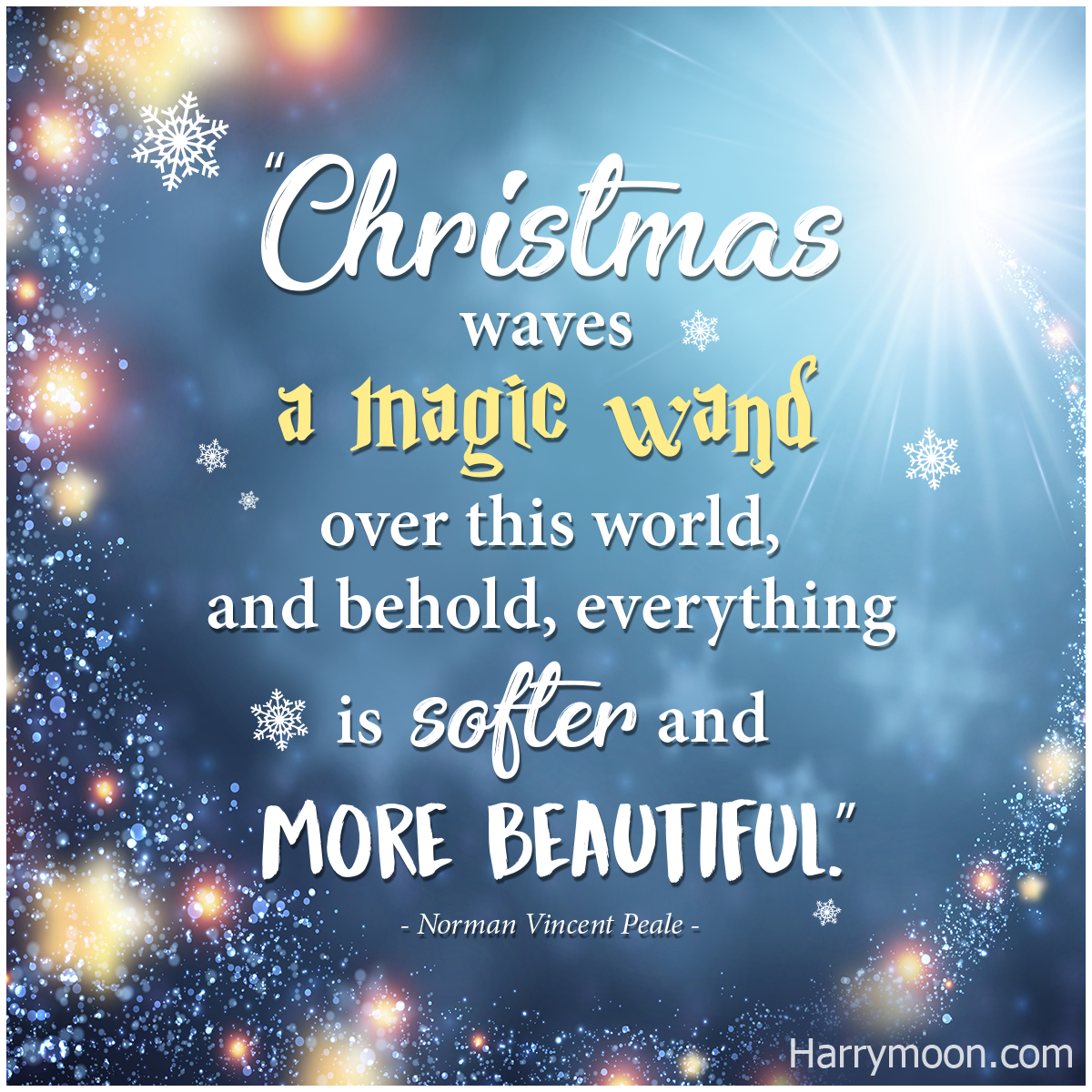 Christmas Waves A Magic Wand Over This World And Behold Everything Is Softer And More Beaut Quotes About New Year Christmas Quotes Inspirational Xmas Quotes