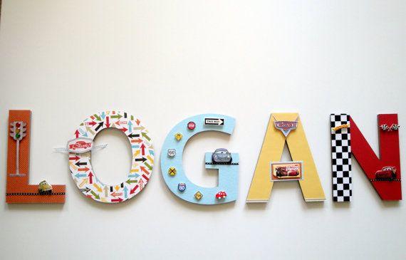 New Disney Cars Wall Letters Custom By Bearyspecialscrin 20 00