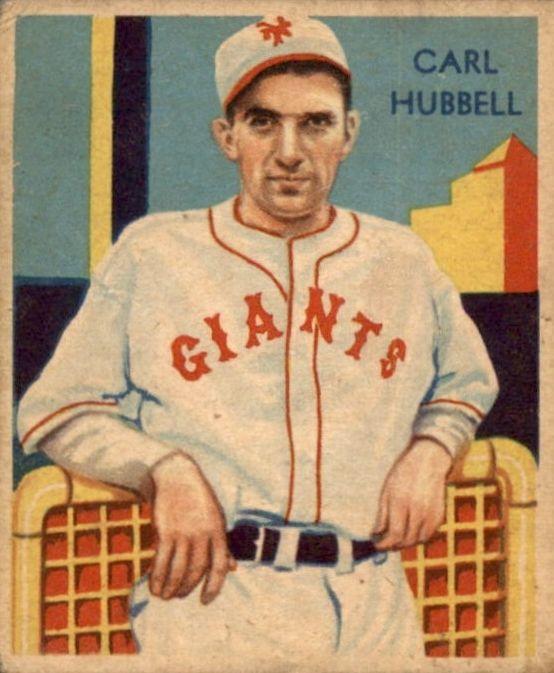 Carl Hubbell 1935 Diamond Stars 39 Baseball Cards Baseball