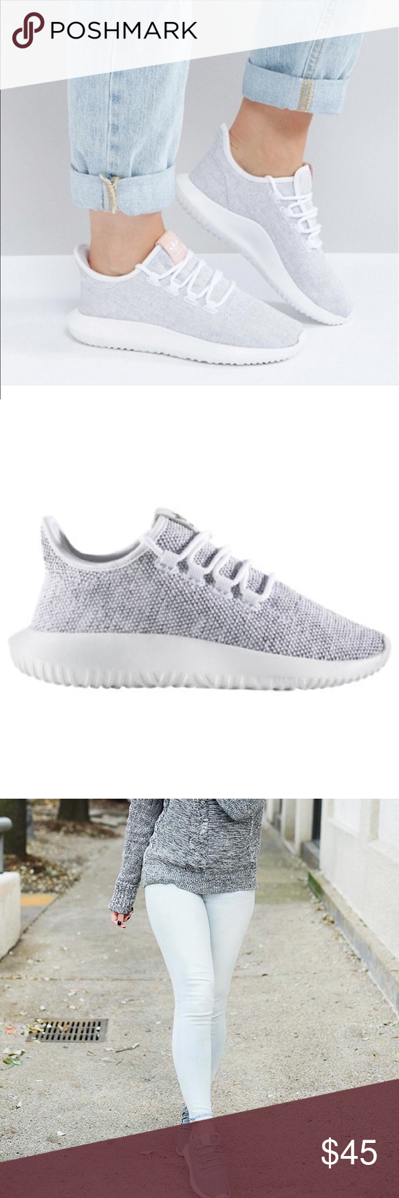 Adidas tubular shadow grey 38 Kid's 6 = women 7.5, I normally wear 7.5 in sneakers and they fit perfectly. Worn only twice in almost perfect condition.
