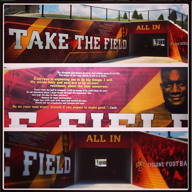Our New Football Tunnel Graphic Iowa State Cyclones Iowa State Iowa State University