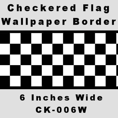 Checkered Flag Cars Nascar Wallpaper Border6 Inch Black Edge You Can Get More Details By Clicking On T Wallpaper Border Checkered Flag Childrens Wall Decor