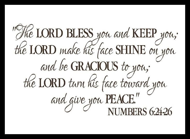 Numbers 6 24 May The Lord Bless You And Protect You 25