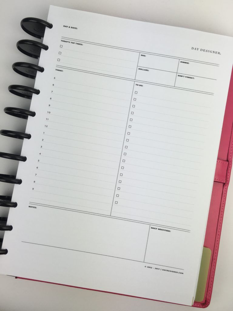Trying Out The Day Designer Daily Planner By Whitney English Review All About Planners Daily Planner Notebooks Daily Planner Diy Day Designer Planner