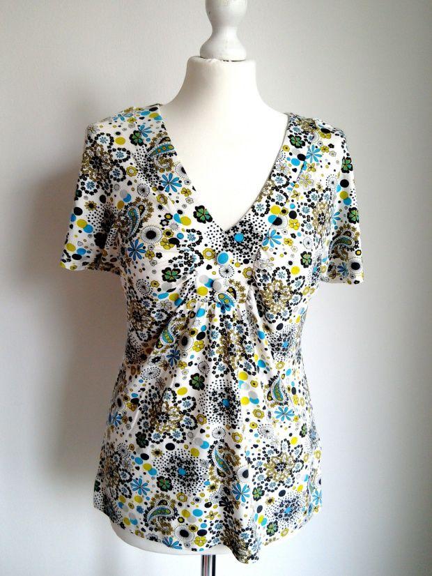Desigual Biala Bluzka W Kolorowe Wzory Kwiaty L 5974872796 Oficjalne Archiwum Allegro Fashion Women S Top Tops
