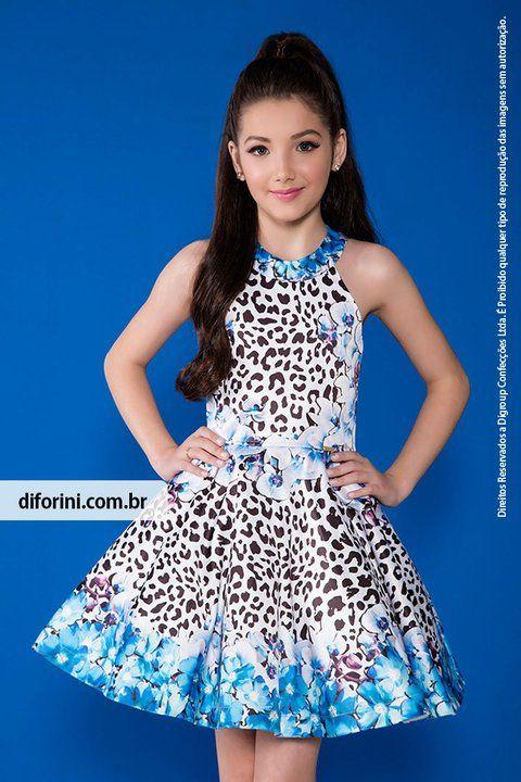 41a002215 Vestido Infantil Diforini Moda Infanto Juvenil 010806