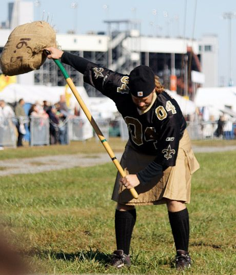 Highland Games Sheaf Toss in Richmond, Va.