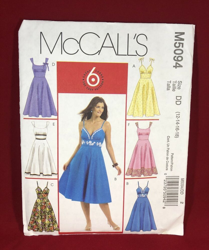 McCall's M5094 Misses Dresses 6 Great Looks One Easy Pattern
