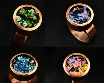 Bismuth Crystal Ring February 2017