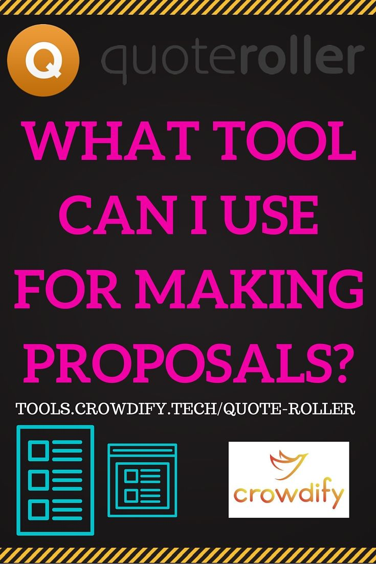 Quote Roller Crowdify Tools  How To Use Quote Roller To Make Proposals