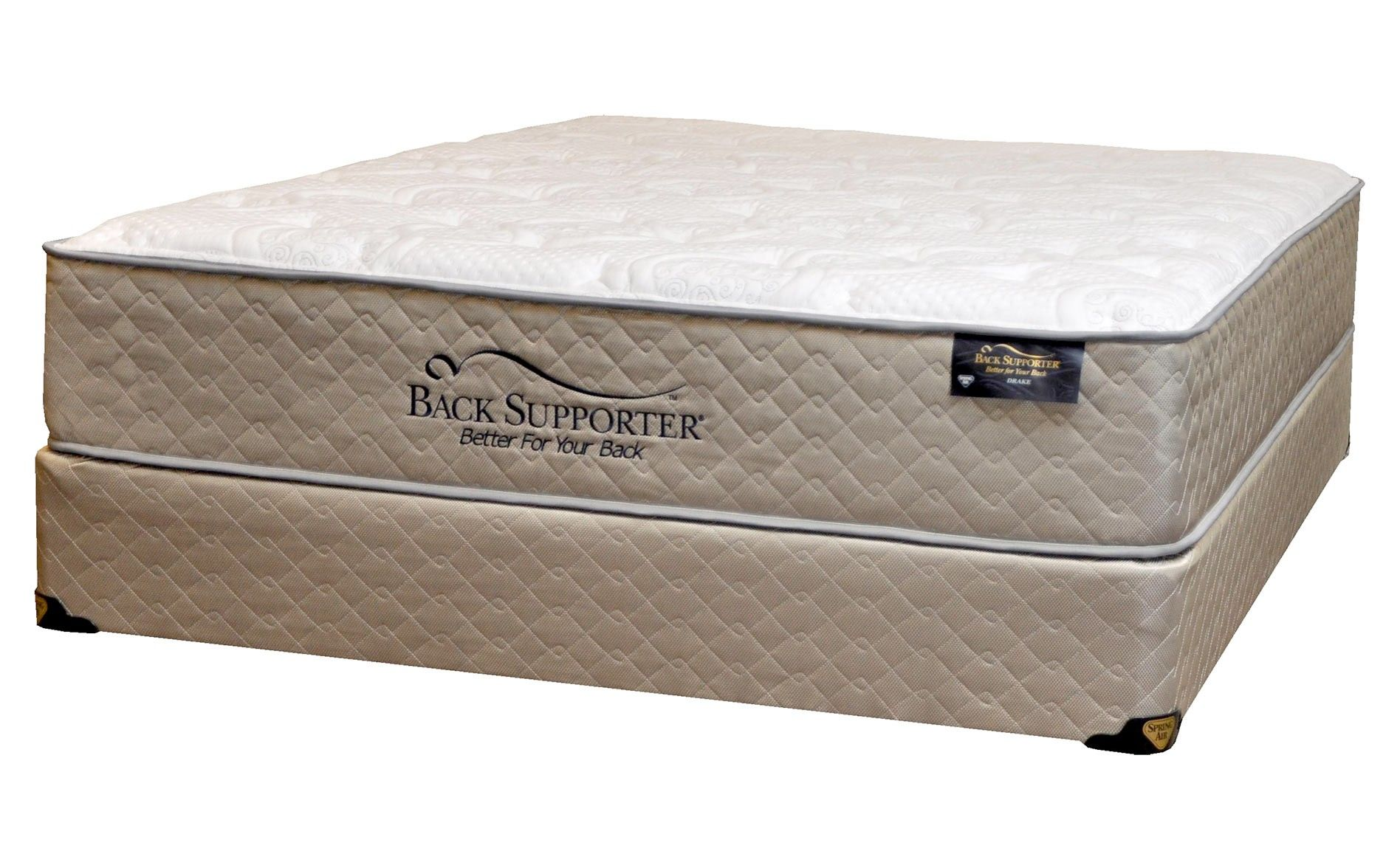 Spring Air Back Supporter Drake Firm Queen Mattress Set | Queen Size |  Raleigh Furniture |