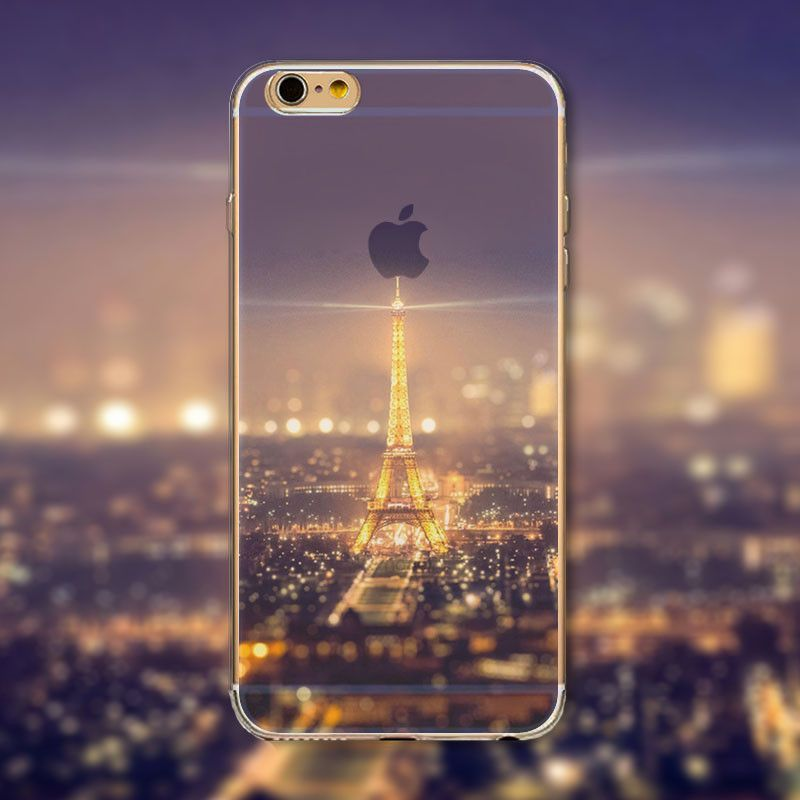 "Beautiful Eiffel Tower Phone Case Cover for iPhone 4 4s 5 5s 5c 6 6s 6Plus 6s Plus Transparent Soft Silicone Back Case Cover ""FREE SHIPPING"""