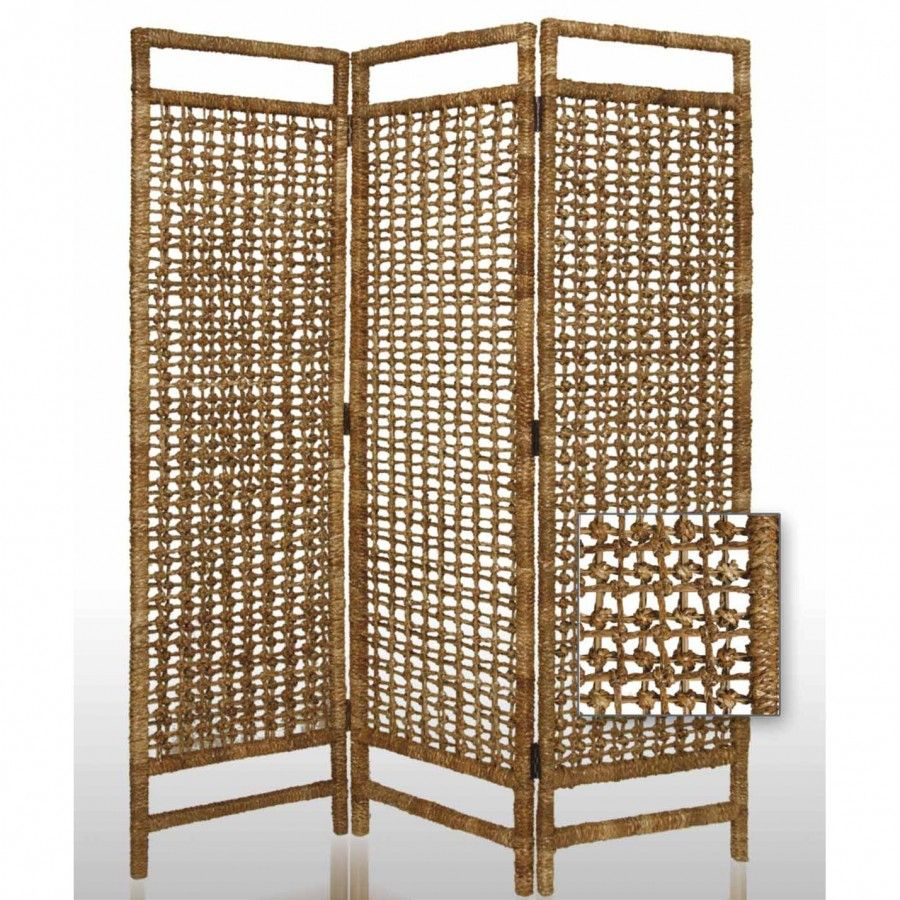 Screen Gems Palm Weaved Indoor / Outdoor Square Room Divider   SG 14