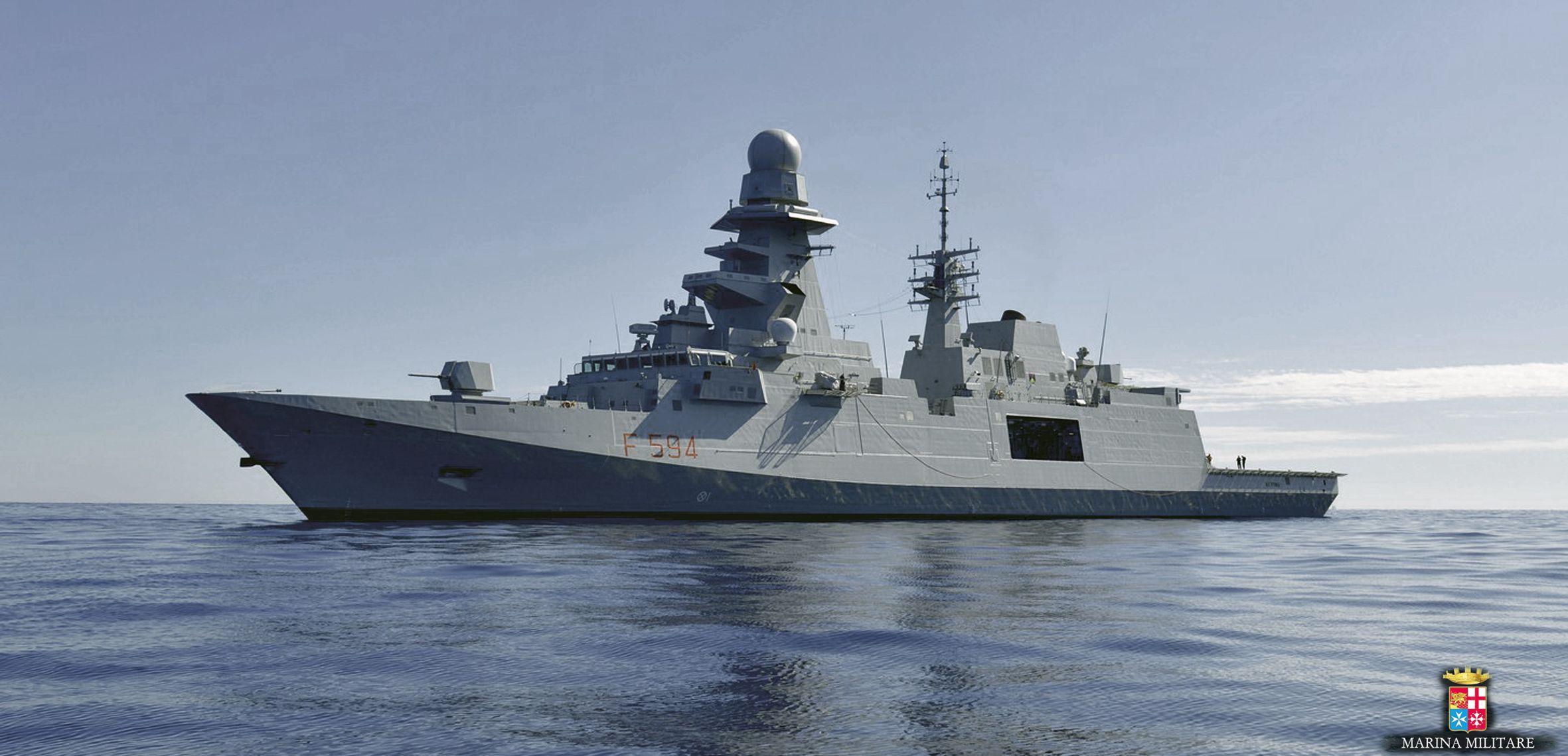 FREMM multipurpose frigate of Italian navy