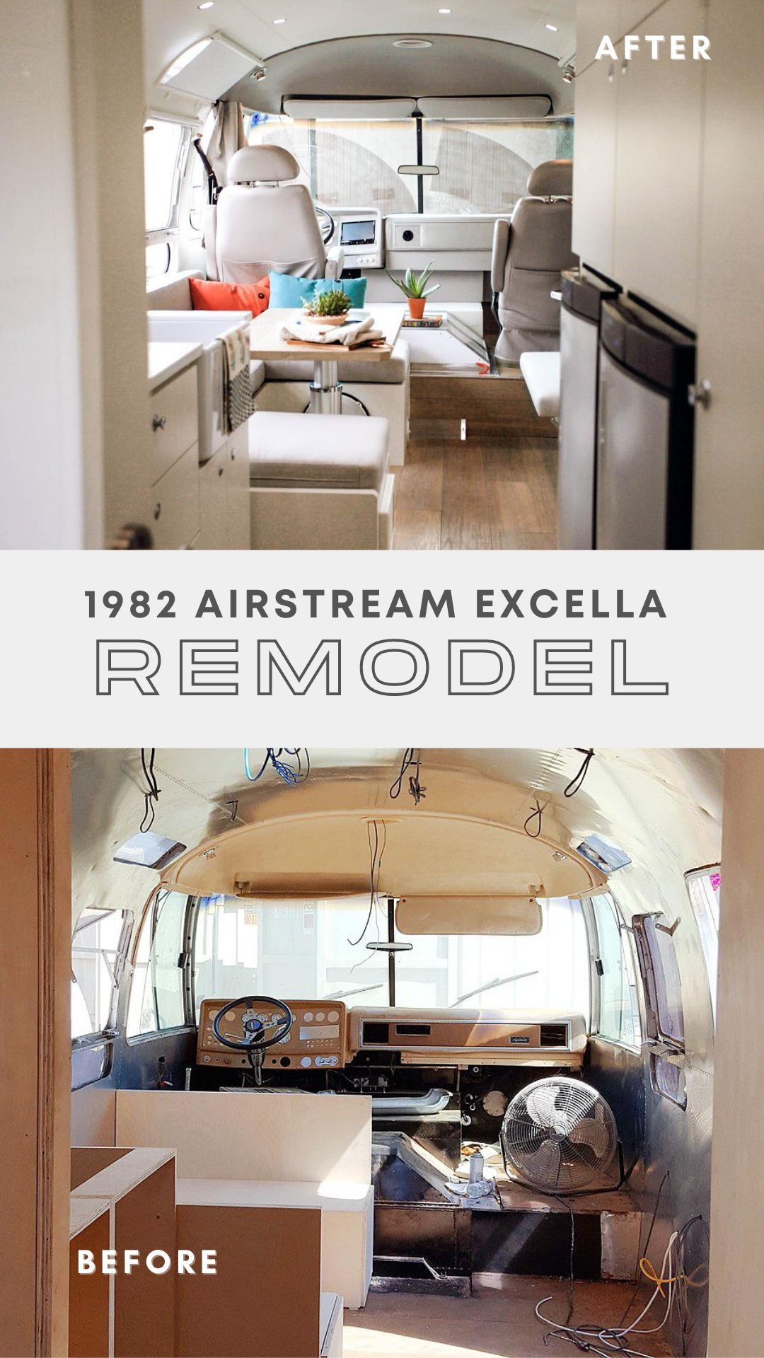 1982 Airstream Excella Remodel In 2020 Airstream Renovation Rv Interior Trailer Home