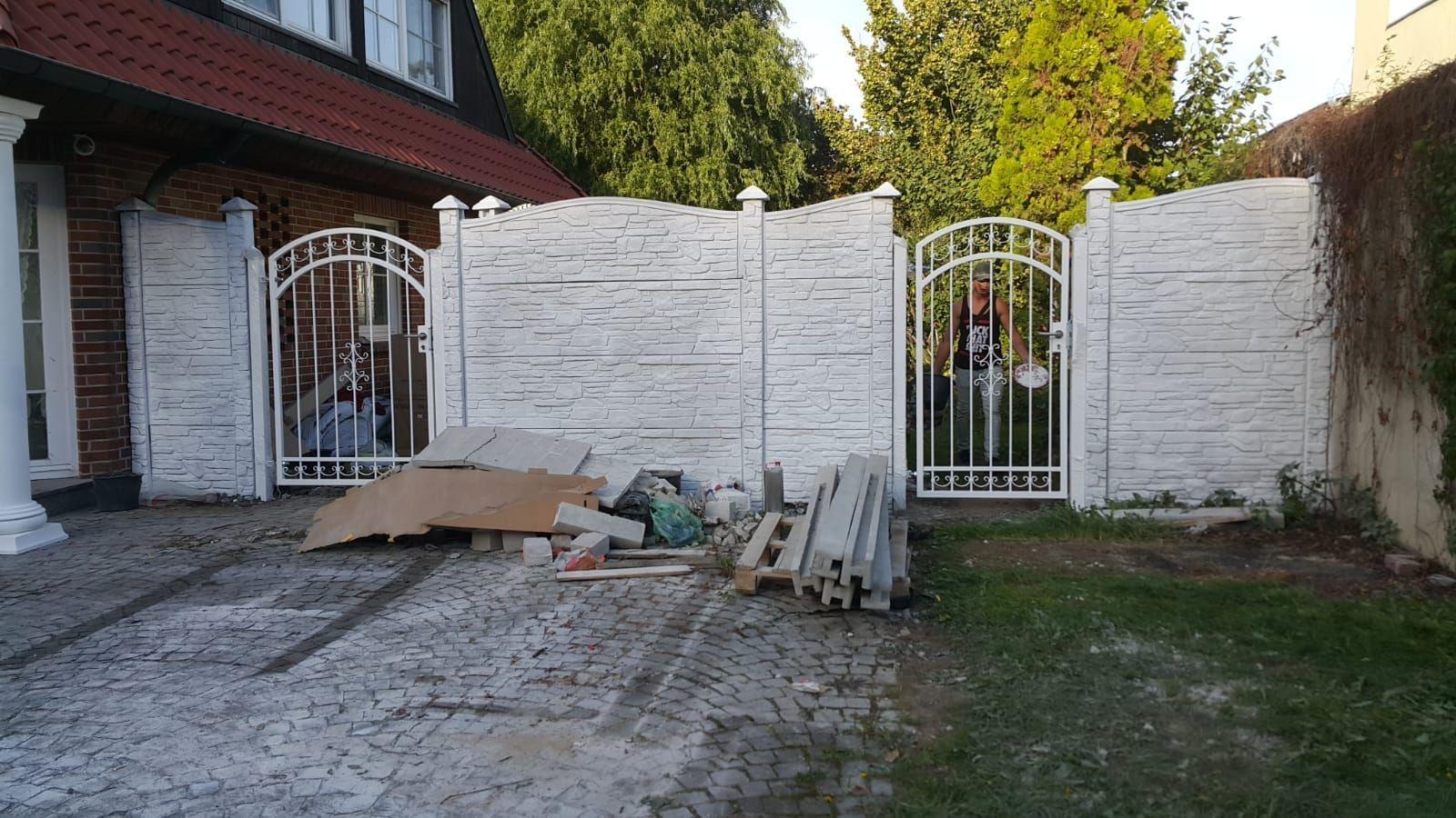 Zaun Aus Beton Zaun Gartenzaun Garten