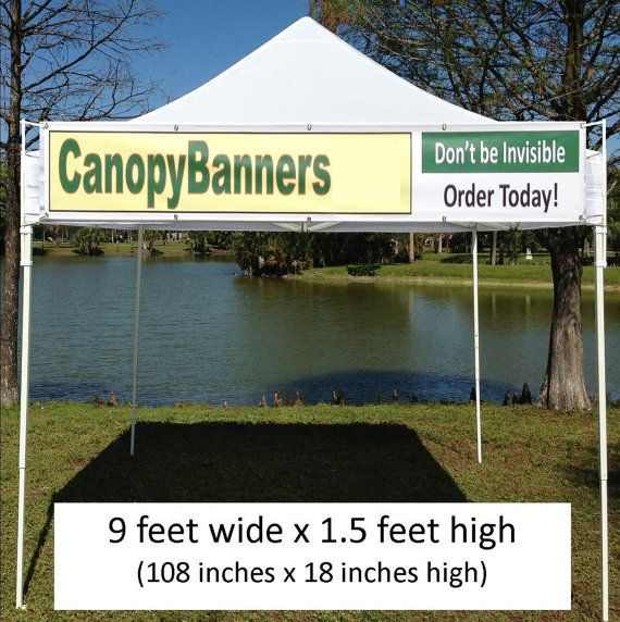 Canopy Banner Kit 9 X 1 5 Hang A Banner Fast And Etsy Vinyl Banners Canopy Banner Sizes