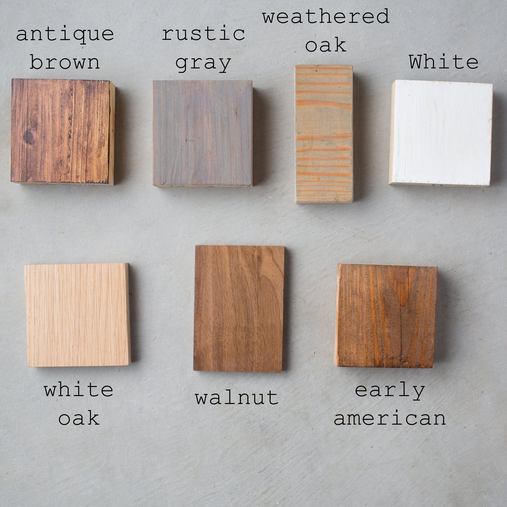 Staining Wood, Minwax Stain Colors