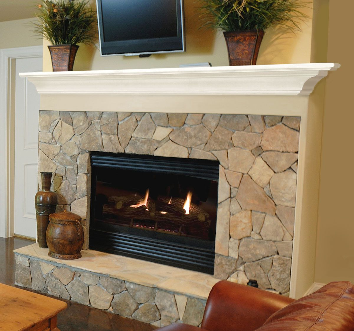 Pearl mantels 618 crestwood mdf fireplace mantel shelf for Fireplace and mantel