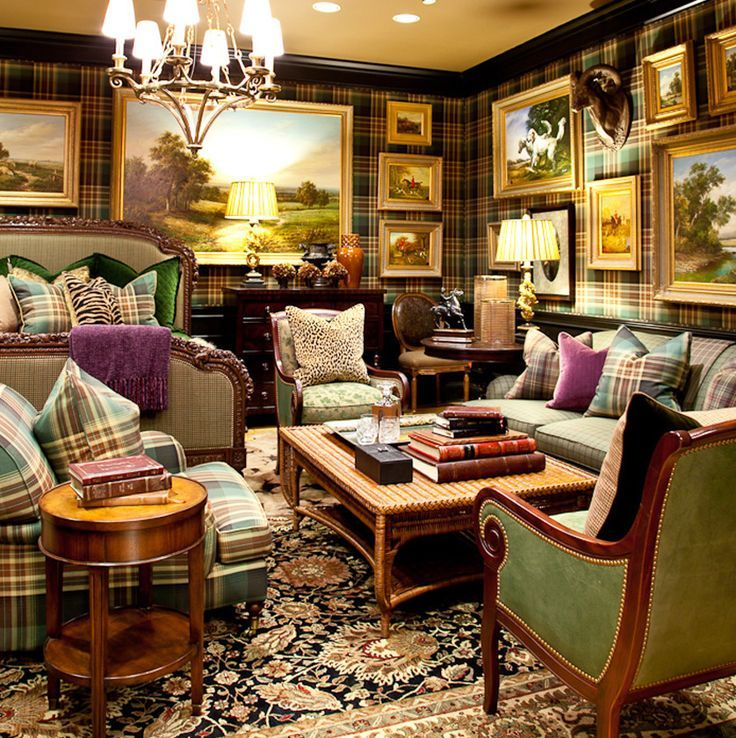 Decorating With Plaid Covered Walls Home English Decor