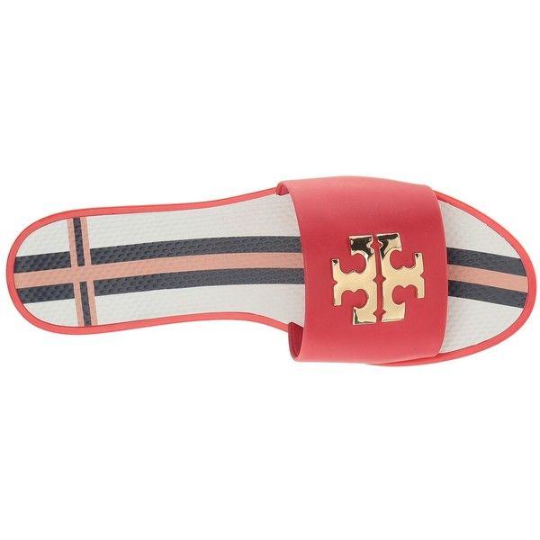 05883698f Tory Burch Logo Jelly Slide (Nantucket Red) Women s Slide Shoes ( 150) ❤