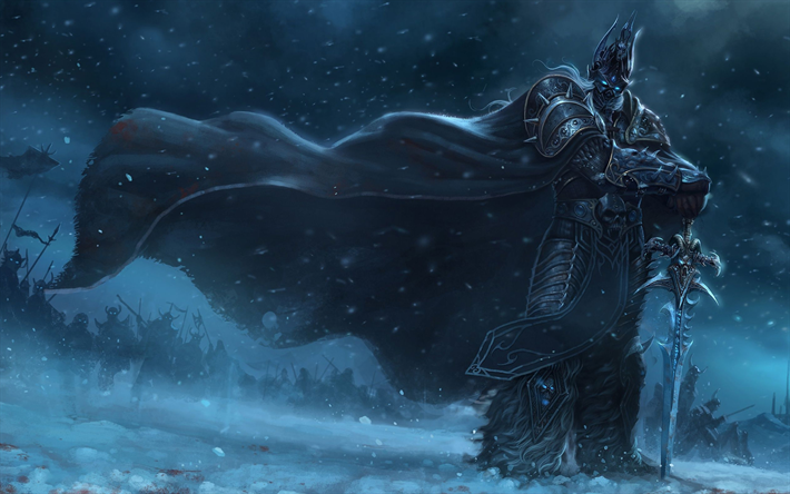 Download Wallpapers Lich King Darkness World Of Warcraft